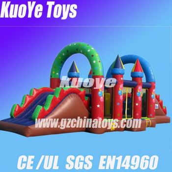 customized size obstacle seaworld inflatable obstacle course