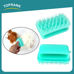 Hot sale pet cleaning grooming products soft dog bath wash brush