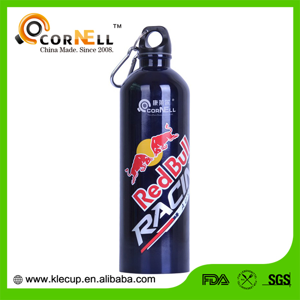 Logo Customized Carabiner lid advertising stainless steel sports water bottle