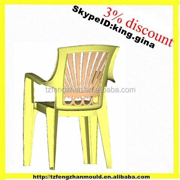 OEM Plastic adult chair mold with arm , household commodity mould supplier