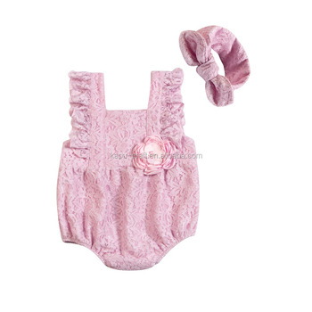 New arrive 0-4years lace cotton baby romper