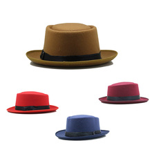 High Quality Bulk Sale Custom Made Wool Felt Mens Women Short Brim Fedora Hat Wholesale