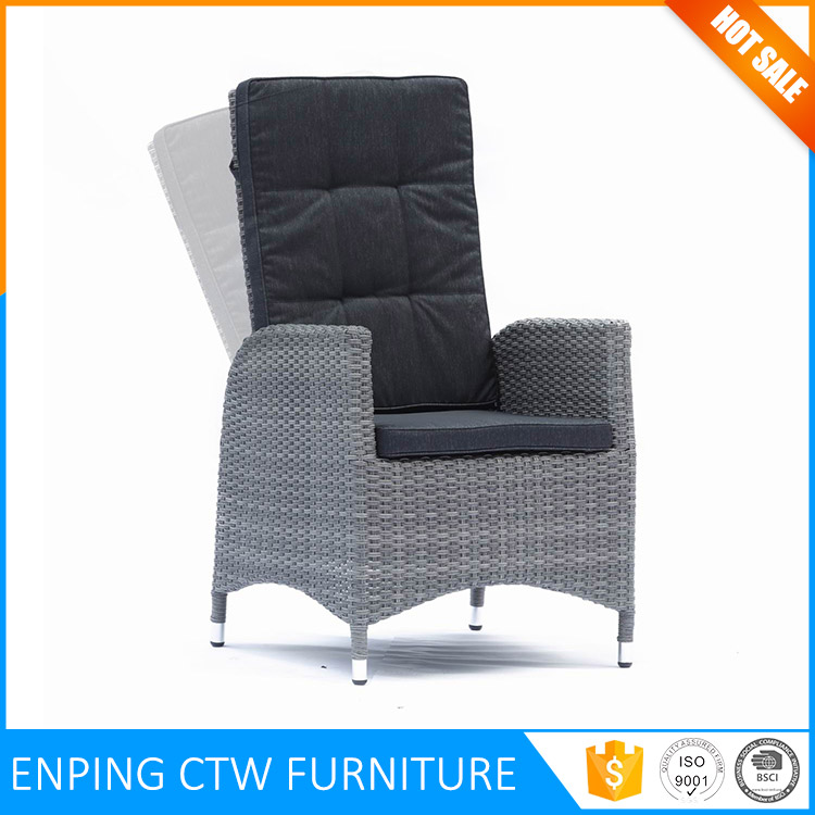 Cheap Factory Price Metal Frame High Back Rattan Garden Chairs
