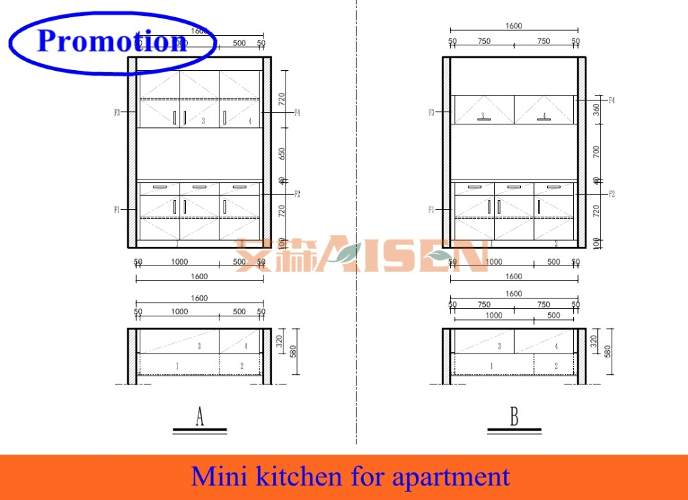 mini kitchen cabinet for student apartment project buy