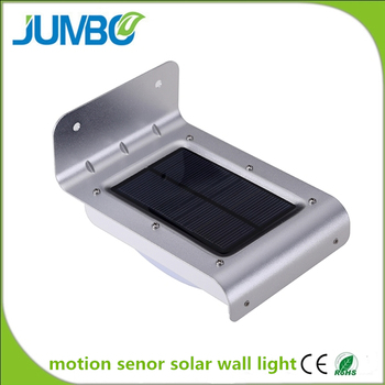 16pcs led motion senor solar light wall mounted solar light
