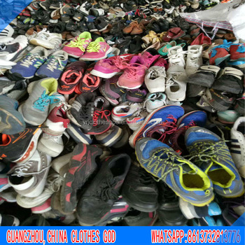 Mixed brands made in Shaoxing China factory export to Africa Nigeria second hand used sneakers shoes