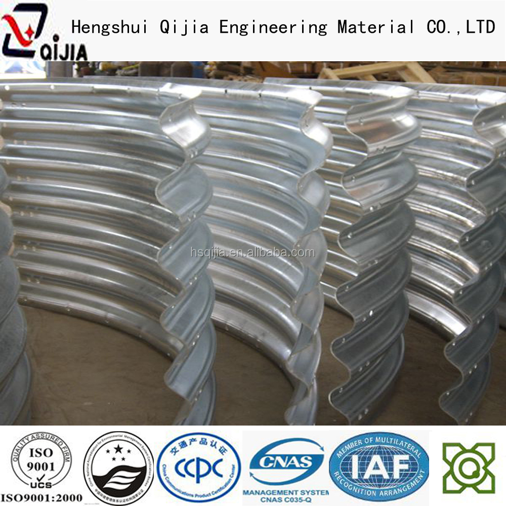 Flange Corrugated galvanized Metal Pipe flexible corrugated steel conduit pipes concentric reducer large diameter corrugated m
