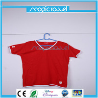 red color magic compressed gym t shirt with short sleeve