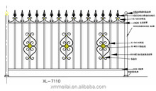 Outdoor Railing / fence, 304 Stainless Steel material, with decorative accessories