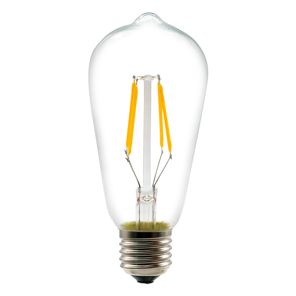 high density E27 230V ST64 LED filament bulb light with best quality and low price