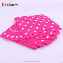 Disposable decorative Custom printed logo paper table dinner napkin for party decoration