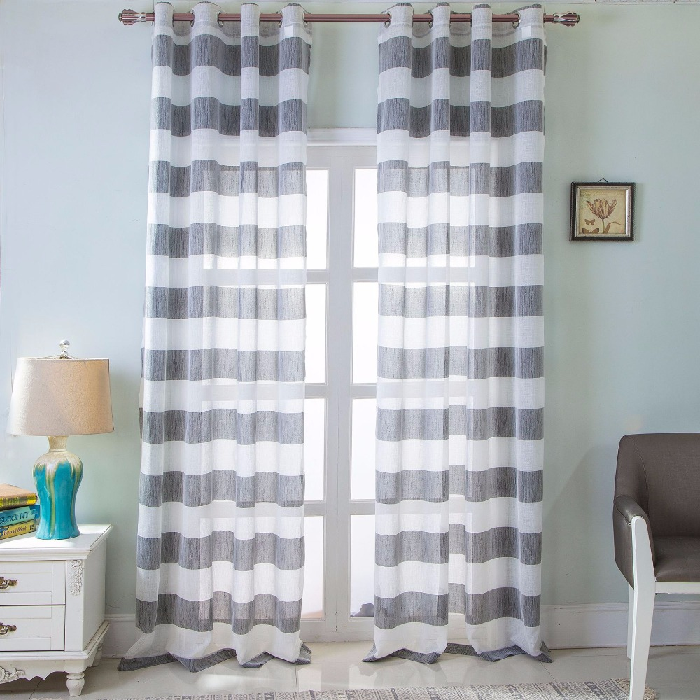 French light blue window bedroom polyester shading blackout curtain
