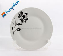 black colored plate/ceramic dinner plate/dishes porcelain