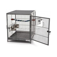 Travel Bird Cage Pet Steel Wire Carrier Safe House