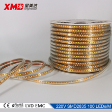 China supplier led flexible strip light 220 volts led strip