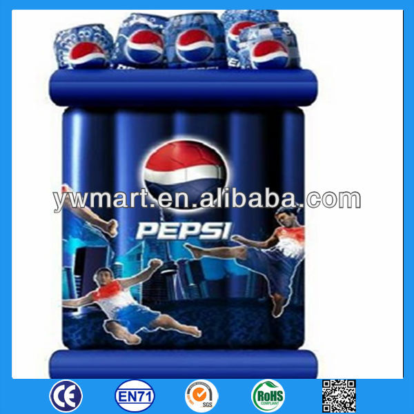 Inflatable floating pool cooler, round inflatable cooler with cup holders, PVC inflatable floating pool cooler for beach party