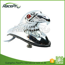 Eagle Head Motorcycle Front Fender Ornament With LED Red Eyes