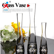 Wedding fine mouth transparent glass vase Contracted a rose flower implement vase only flower table furnishing articles