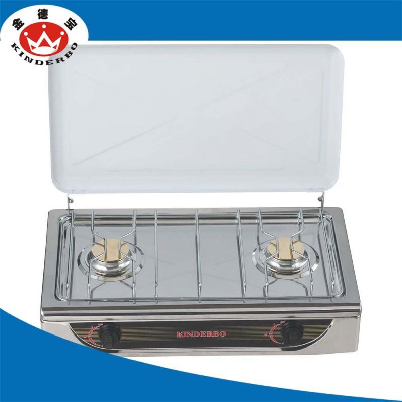 2 burner Camping Grill built-in gas stove