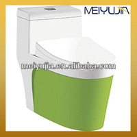 Chaozhou Ceramic standard one-piece green colored toilets