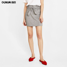 latest design ladies short mini skirt with belt