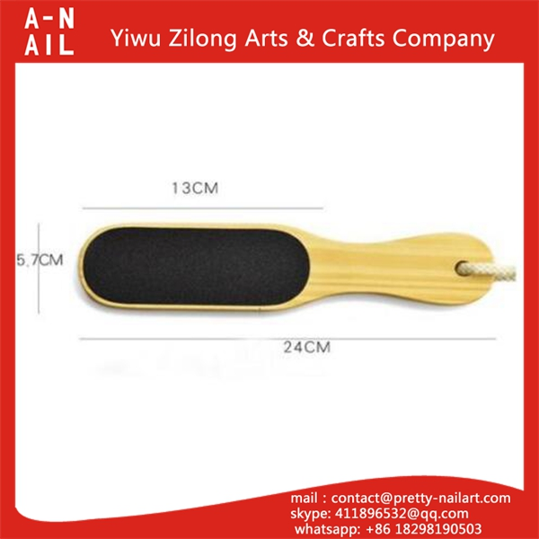 High quality emery foot file with long handle dead skin foot file pedicure tool