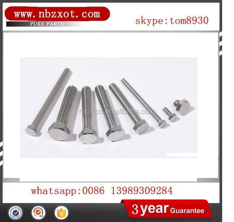 good quality HEX SCREW DIN 933 DIN 931 ISO 4014 ISO 4017 IS 1363/4 U BOLT EYE BOLT DIN580 COACH SCREW DIN571 FLANGE BOLT DIN6921