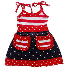 Girls Boutique Summer Clothing Sets July 4th Outfits Pettiskirt Capris Outfits