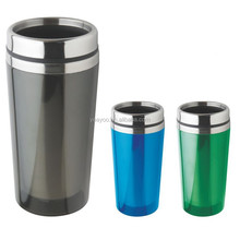 Portable double wall stainless steel vacuum traval coffee mug new car cup