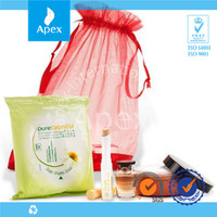 China Maunfacturer Cheap Transparent Drawstring Personalized Organza Cosmetic Bag