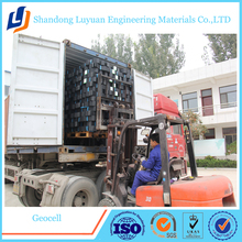 geocell plastic for road/hdpe geocell material