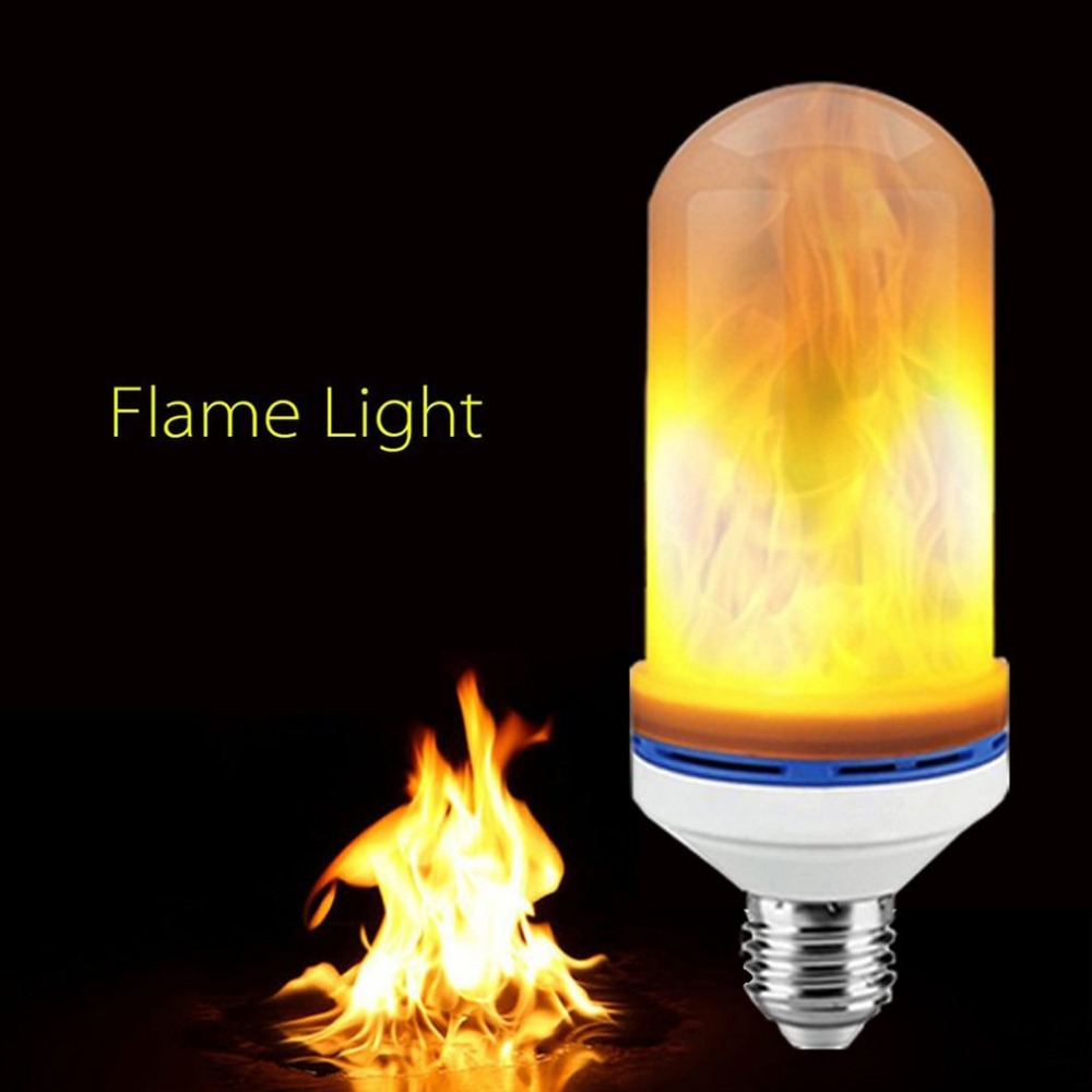 Wholesale LED Flame Effect Fire Light Bulb E27 Flickering Flame Lamp Decorative christmas led light