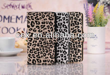 Hot Sales Magnetic Leopard Pattern PU Leather Stand Case with Three Card Slots for Samsung Galaxy Note 3 N9000 N9006