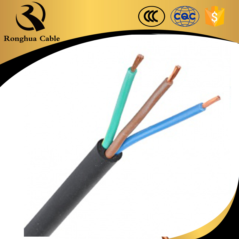 5 amp cable size twisted cable 1.5mm flexibility rubber coated cable yz cable