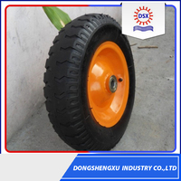 Trade Assurance Supplier 14 Inch Solid Rubber Wheel For Wheelbarrow