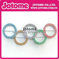 newest Rhinestone Buckle Five rings connected to each other with different colour, glitz and glamor 2014