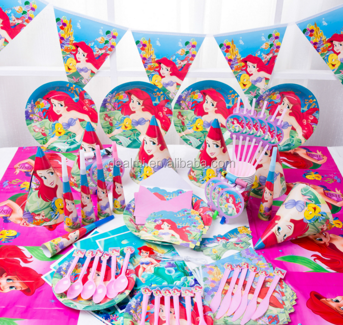DMlqk806----2017 fashion mermaid birthday party upholstery props Wholesale cheap kids party supplies