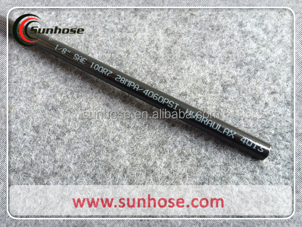 Flexible Soft oil resistant high pressure polyester braided rubber hydraulic hose r7r8