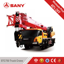 SANY STC750 75 Tons Original Factory Renovation Truck Crane 2013 Year Made Used Condition Mobile Crane