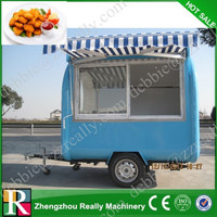 Widely used stainless steel mobile fast food carts for sale