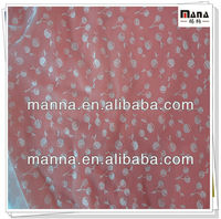 Polyester mesh fabric with printed cherry for kid
