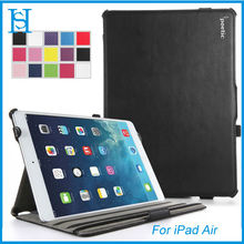 Flip leather case for ipad air cover with 3 stand position