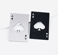 playing cards shape stainless steel beer bottle opener
