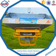 Agricultural tractor mounted fertilizer spreaders