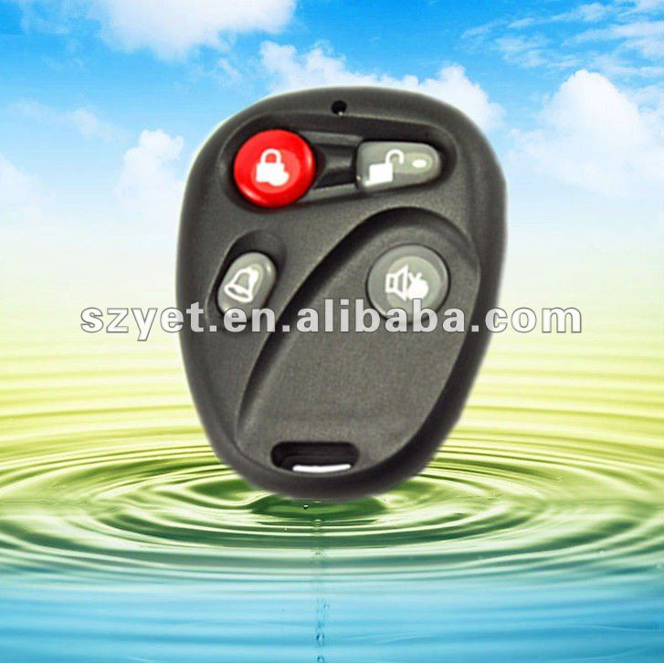 Plastic case remote control with 4 buttons YET104BK