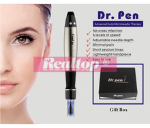 Best selling dr pen electric micro needling derma pen/needle length adjustable derma stamp electric pen with needle cartridges