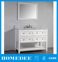 Classical North America new design wooden vanity hotel bathroom vanity cabinet