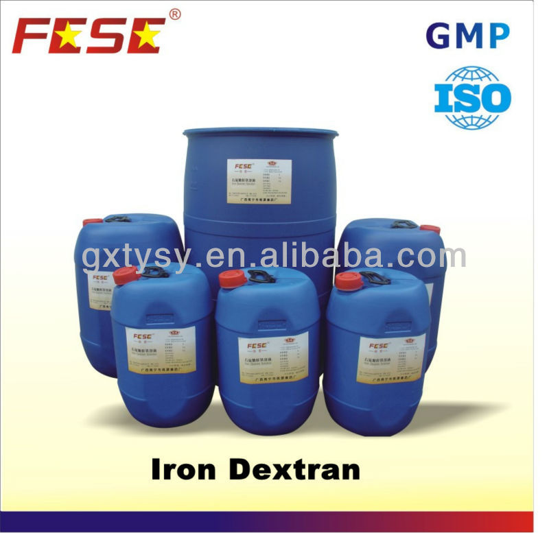 Pharmacuetical Products Iron Dextran for Livestock Farming
