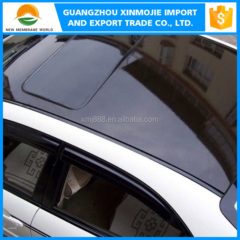 Black Car Roof pvc vinyl film glossy surface motor wrapper film sticker