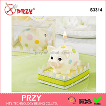 S3314 Silicone mold Kids Birthday Party Supplies birthday candle creative candle molds mold pig